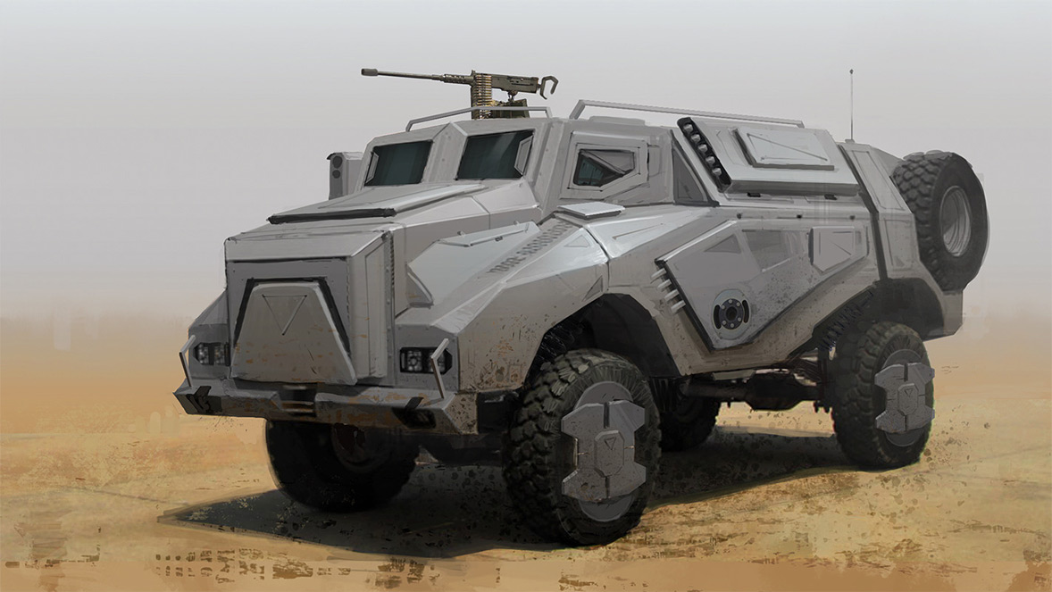 Sci Fi Military Concept Vehicle
