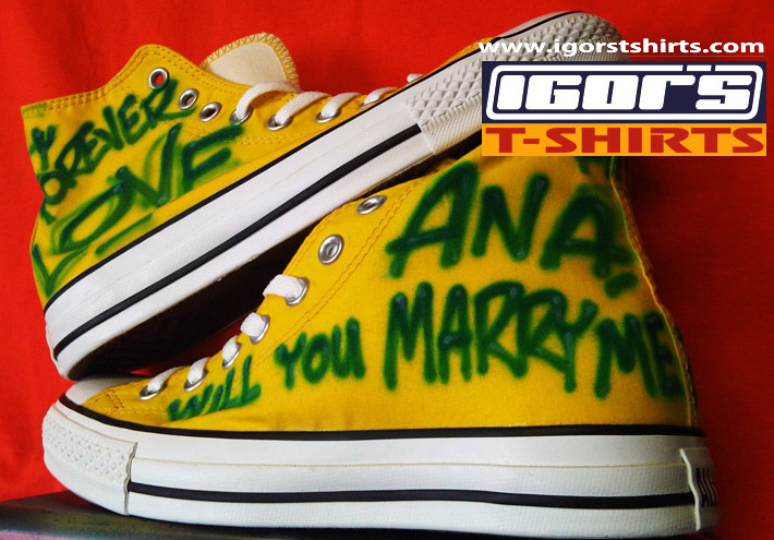 16ca1113943e Keywords  custom airbrushed shoes converse chuck taylor all star old school  basketball shoes will you marry me ana design congrats mirror image logo  shoes ...