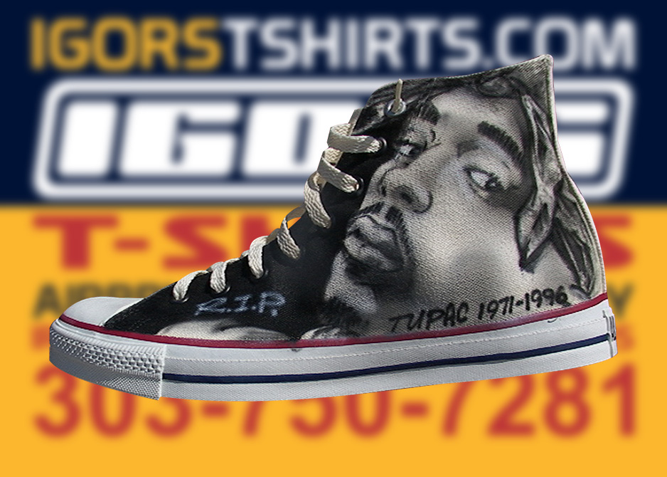 56de6814a21b airbrushed shoes and tupac chuck taylors  Batman vs. Joker airbrushed FUBU  shoes