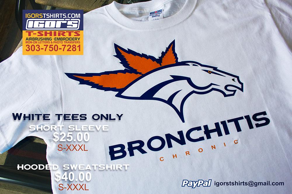 2c5197c2ce7 Marijuana inspired Denver Broncos vs. Seattle Seahawks t-shirts and  Sweatshirts