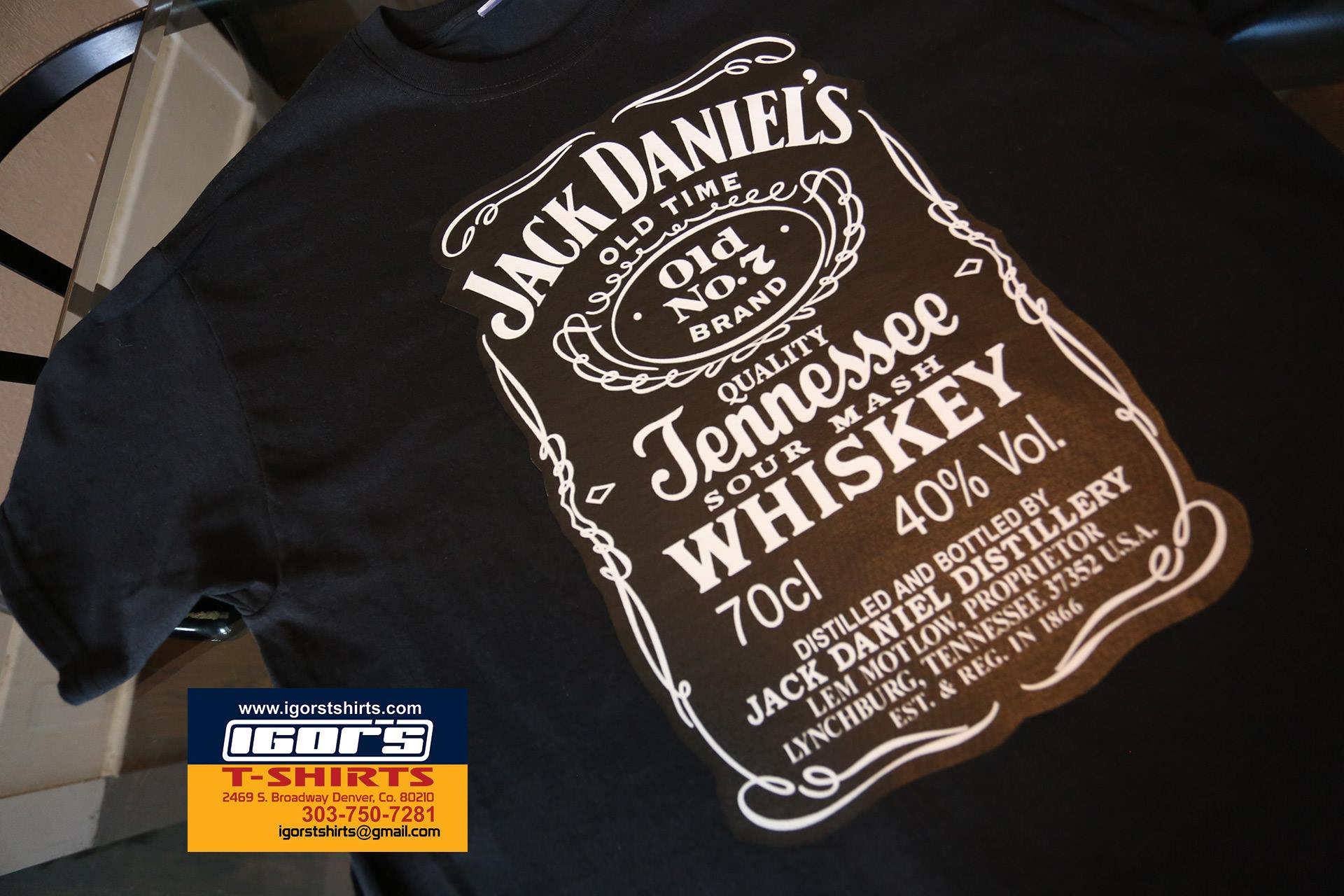 Design t shirt transfer template - Jack Daniels Whiskey T Shirt
