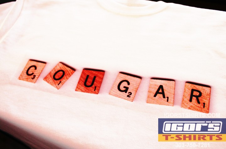cougar scrabble t-shirtcougar scrabble t-shirt