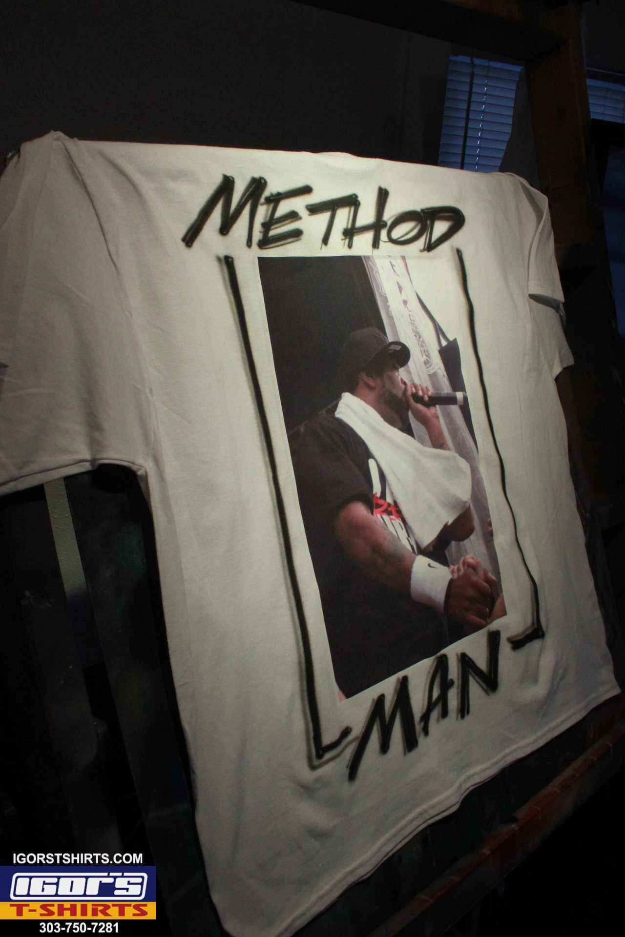 method man t shirt photo on heat transfer with airbrush