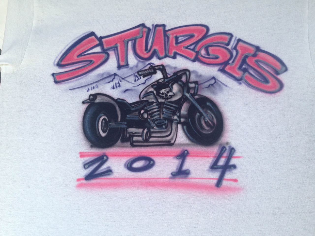 Sturgis airbrushed motorcycle