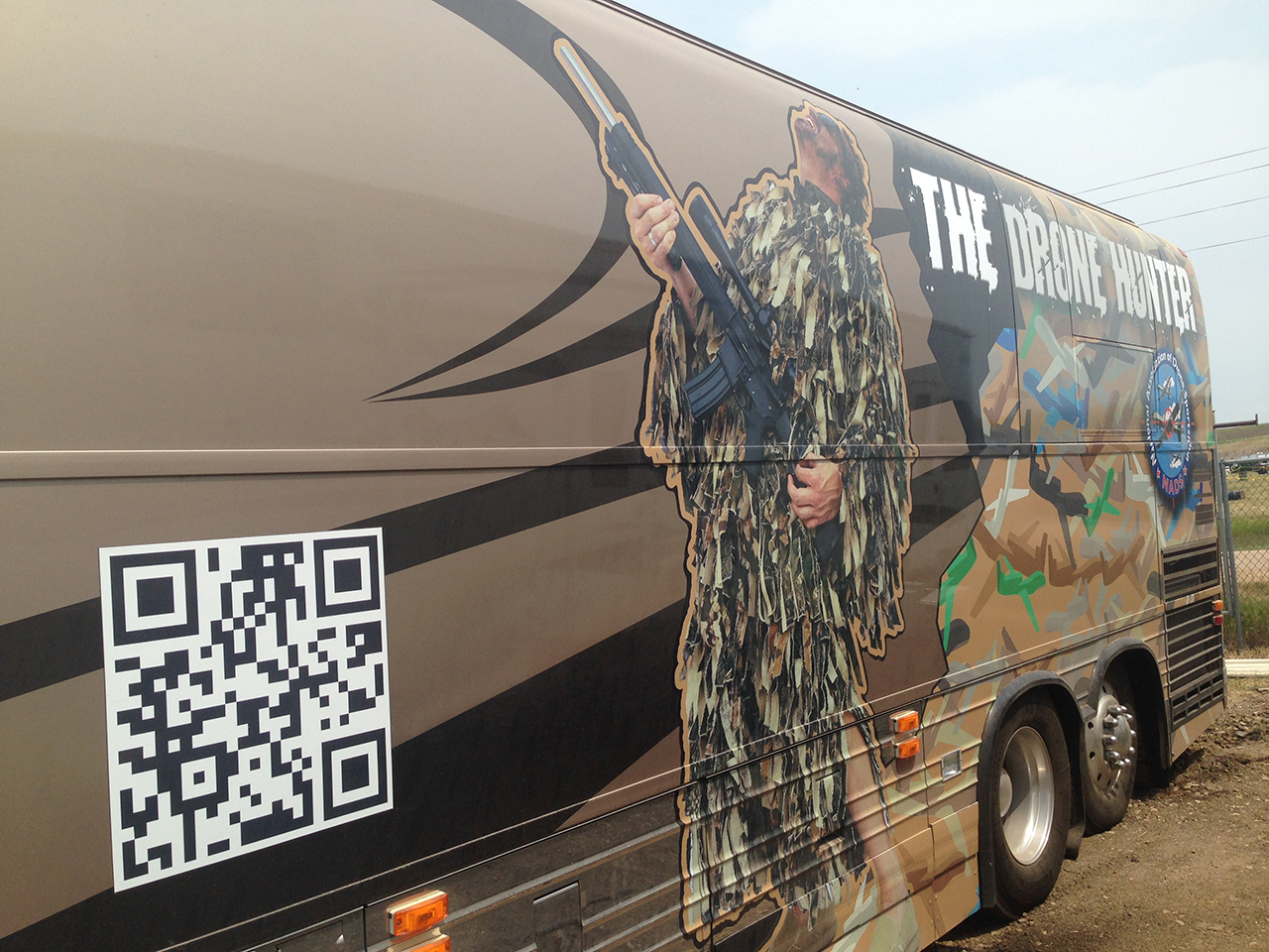 The Drone Hunter bus