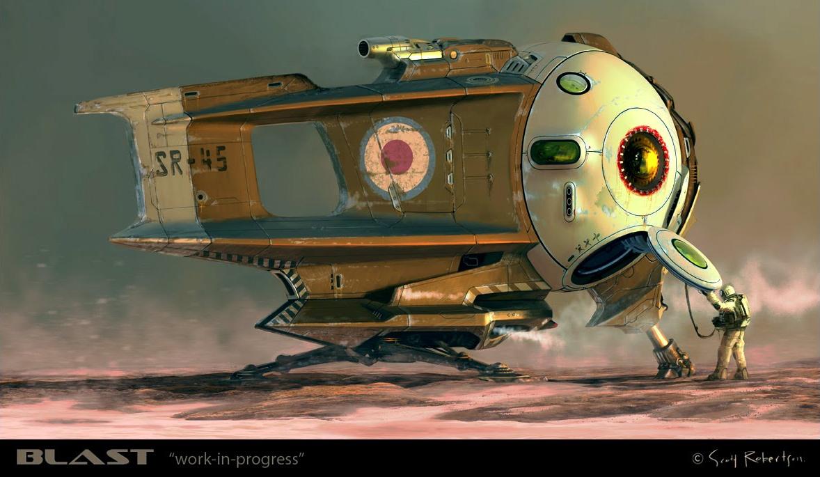 amazoncom blast spaceship sketches and renderings - 1200×600