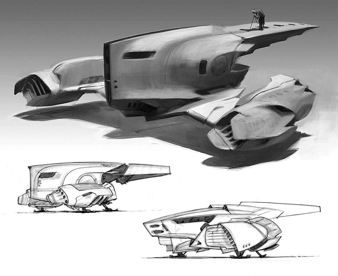 amazoncom blast spaceship sketches and renderings - 680×556